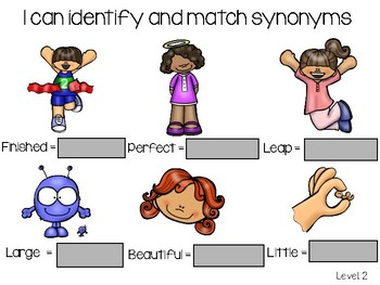 I Can Identify and Match Synonyms