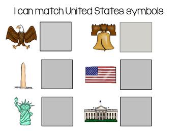 I Can Identify and Match United States Symbols