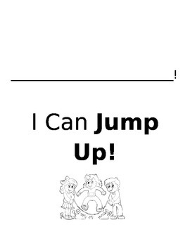 I Can Jump Up Booklet