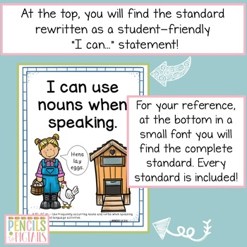 TN Standards I Can Kindergarten ELA Statements - Tennessee Academic Standards