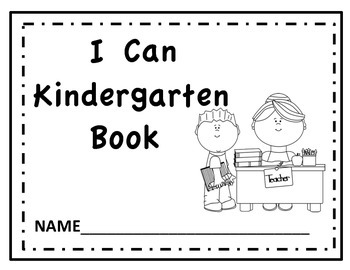 """Kindergarten """"I Can"""" Read and Color Book"""