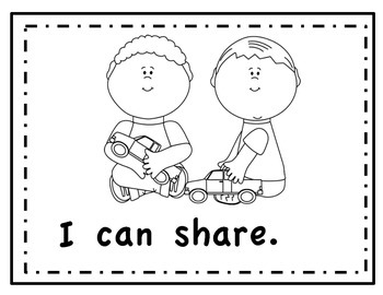 "Kindergarten ""I Can"" Read and Color Book"