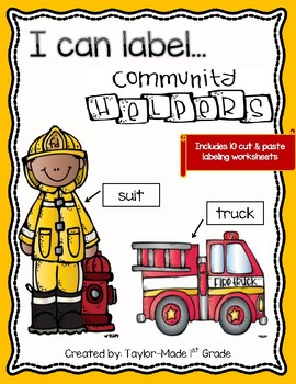 I Can Label Community Helpers