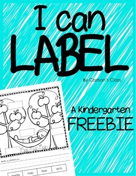 I Can Label -- FREEBIE