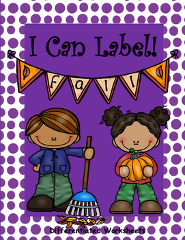 I Can Label!  Fall