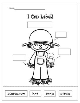 I Can Label!  Fall  Freebie