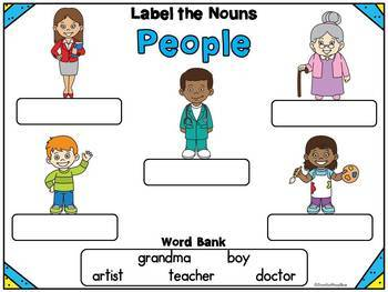 I Can Label It! Parts of Speech Word Work Grammar BUNDLE