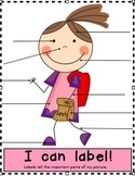 I Can Label! Writing Workshop - Write On (Tool Sheet) - Boy and Girl