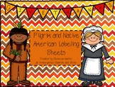 FREE!! Pilgrim and Native American Label sheets