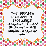 """I Can""  Language Statements  from Georgia Standards of Ex"