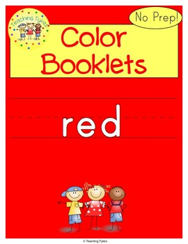 Colors Activities Worksheets Booklet Red