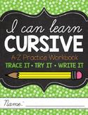 I Can Learn Cursive Workbook