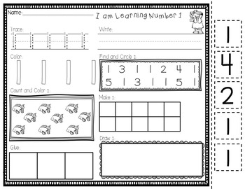I Can Learn My Numbers - Number Practice Worksheets 0 - 30