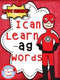 I Can Learn -ag cvc Words