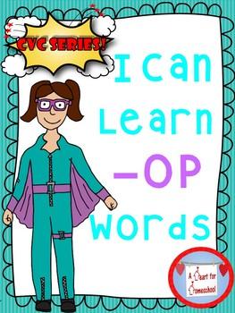 I Can Learn -op family CVC Words