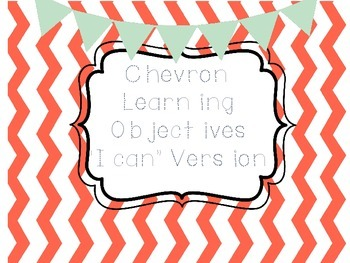 """I Can"" Learning Objectives"