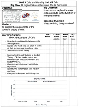 NGSS Student Progress Monitor Template (Editable)
