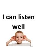 I Can Listen Well Social Story