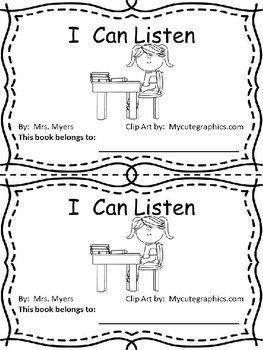 I Can Listen- an emergent social story about listening skills