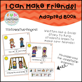 I Can Make Friends! Adapted Book for Special Education/Autism/Pre-K/K