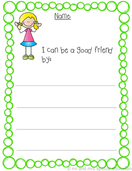 I Can Make Friends Worksheet Packet