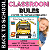 Back to School Rules: I Can Make Good Choices: Classroom R