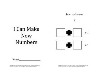 I Can Make New Numbers Addition Work Booklet
