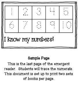 I Can Make Numbers: An Interactive Math Emergent Reader