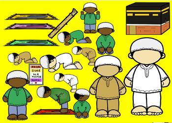 I Can Make Salah Clip Art Set