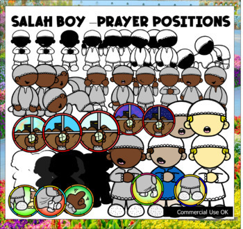 I Can Make Salah Clip Art Set