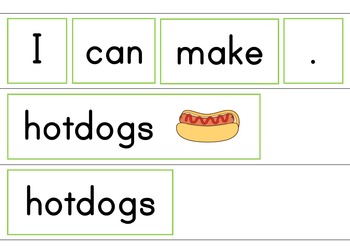 I Can Make Snacks Easy Reader Patterned Sentences for Beginner Readers