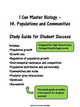 I Can Master Biology - Populations and Communities - High School Science