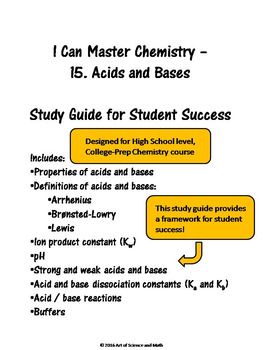 I Can Master Chemistry - Acids and Bases - High School Chemistry