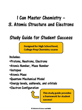 I Can Master Chemistry - Atomic Structure and Electrons - High School Science