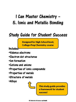 I Can Master Chemistry - Ionic and Metallic Bonding - High School Science