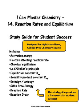 I Can Master Chemistry - Reaction Rate and Equilibrium - High School Science