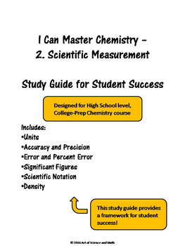 I Can Master Chemistry - Scientific Measurement - High School Science