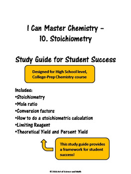 I Can Master Chemistry - Stoichiometry - High School Science