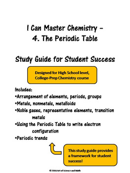 I Can Master Chemistry - The Periodic Table - High School Science