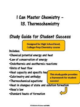 I Can Master Chemistry - Thermochemistry - High School Science