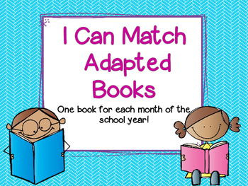I Can Match Adapted Books
