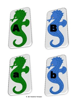 I Can Match Capital and Lower Case Letters Activity (Seahorses)