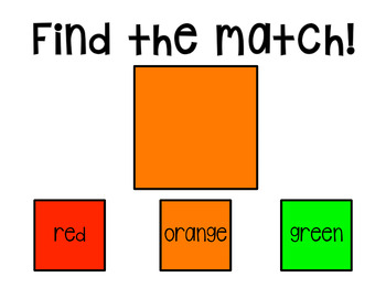 I Can Match Colors: 2 Interactive PDFs for Special Education Classrooms