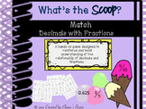 I Can Match Decimals and Fractions in this Scoop Up Game