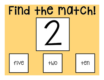 I Can Match Numbers: 2 Interactive PDFs for Special Education Classrooms