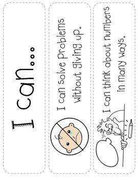 """I Can"" Math Cards- Early Childhood/Elementary"