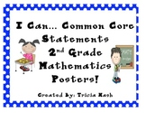 I Can Math Common Core Statement Posters