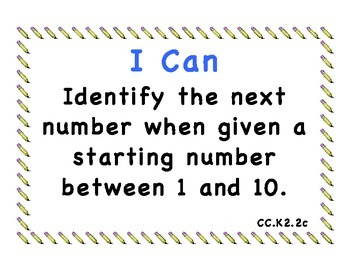 I Can Math Extended Common Core Standards K-2