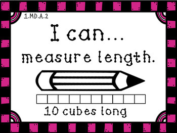 1st Grade Math I Can Statement Posters CCSS
