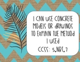 I Can Math Statements- CCSS Aligned- 5th grade
